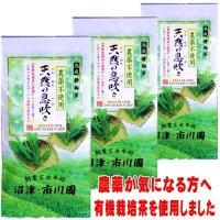有機栽培茶使用の茶  「天然の息吹き」 100g×3袋セット メール便送料無料  静岡茶 農薬不使用の茶