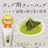 掛川深蒸し茶 ティーバッグ 掛川茶 「カップ用ティーバッグ」2g×50個入り  静岡茶